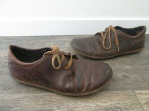 PATAGONIA THATCHER Men's Sz. 12 BROWN NUBUK LEATHER LACE UP OXFORDS SHOES