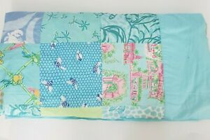 Lilly Pulitzer Queen/full patchwork Quilt - RARE BEAUTIFUL PRE-OWNED