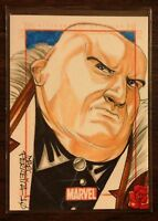 Kingpin Marvel 70th Anniversary color sketch card 1/1