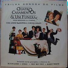 FOUR WEDDINGS & A FUNERAL 1994 STING ELTON JOHN SCARCE Nm VINYL LP BRAZIL Press