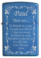 """Personalized Laser Engraved """"Only One You"""" Quote ZIPPO Lighter Gift for Him!"""