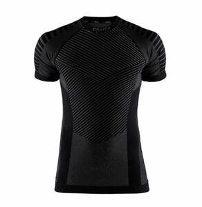 Funktionsshirt Sportshirt CRAFT Active Intensity, Herren, Kurzarm, schwarz grau