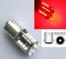 RED CAR 44 SMD LED 581 BAU15S 1156 PY21W BULBS INDICATOR TAIL SIDE LIGHT 12V