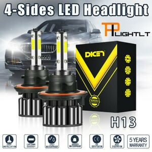 4-Sides H13 9008 2000W 300000LM COB LED Headlight Bulb Kit Hi/Lo Dual Beam 6000K