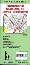 City Street Map of Portsmouth, Seacoast, Dover, New Hampshire, by GMJ Maps