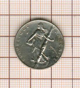 """Fautée 1 Franc Sower 1961 Nickel """" Column """" IN Across IN Le Flan"""