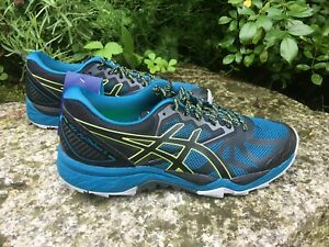 Asics GEL-Fuji Trabuco 6 Männer Laufschuh Sport Sneaker BlauSchwarz NEU Gr. 41,5
