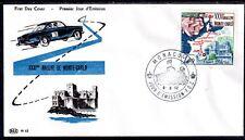 MONACO FDC - 575 1 - RALLYE AUTOMOBILE DE MONTE CARLO - 6 Juin 1962 - LUXE