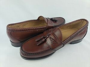 Allen Edmonds Mens Loafer Dress Shoe Maxfield Tassel Size 9.5 D Brown Made USA