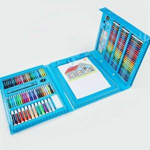 176 Pcs Art Set Kids Gift Box - Colouring Drawing Painting Sketch Art Case, Blue