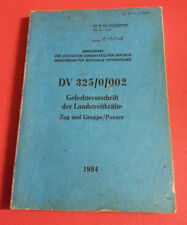 """NVA DDR Handbuch / Dienstvorschrift """" Gefechtsvorschrift der Landstreitkräfte """""""