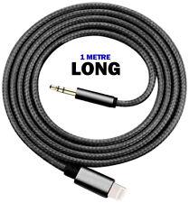 1M LONG Aux Adapter Lightning Headphone Audio Jack Cable iPhone X 8 7 6 6s Plus