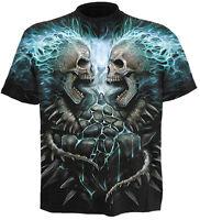 Spiral Direct FLAMING SPINE T-Shirt Flames Biker/Skeleton/Skull/Goth/Metal/Top