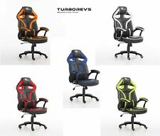 BUCKET GAMING COMPUTER DESK OFFICE CHAIR FAUX LEATHER NEW NEO MORPHEUS RACING