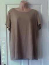 GOLD SHORT SLEEVED TOP BY MARKS AND SPENCER, SIZE 20