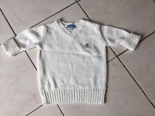 Pull CYRILLUS taille 6 Ans coton blanc très bon état