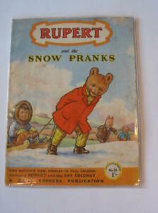 """RUPERT ADVENTURE SERIES No. 31 - RUPERT AND THE SNOW PRANKS - Bestall, Alfred"""