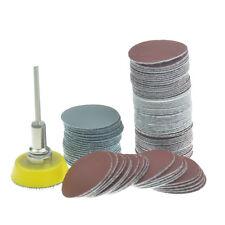 "100pc 1"" Hook&Loop Backed Flocking Sandpaper Mix Polishing pad+3mm Shank Backer"