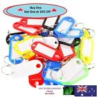 5x Plastic Luggage ID Tags Label Suitcase Bag Keychain Key Fobs Ring Name Card