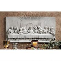 Spiritual Religious Da Vinci's Last Supper Sculpted Wall Sculpture Plaque Frieze