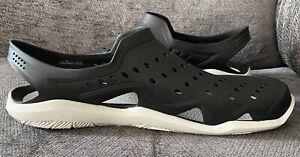 Bnwot Mens Crocs Swiftwater Wave Size Uk10 Black/grey