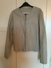 **NEW Women's Crinkle Faux Leather Coat Fully Lined Beige Size 16