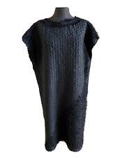 NWOT ISSEY MIYAKE Black Pleated Fringe Dress, Size 2 (Small)