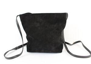 Ann Demeulemeester Black Suede Shoulder Bag Crossbody