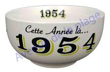 Bol année de naissance 1954 en grès - idée cadeau anniversaire neuf