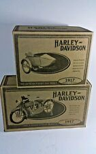 NIB HARLEY DAVIDSON 1917 THE V-TWIN  MODEL with Sidecar! Mint authentic replica