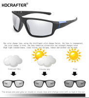 Men's Photochromic Polarized Sunglasses Transition Lens UV400 Outdoor Glasses