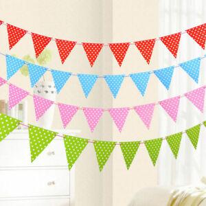 3M String Polka Dots Flag Banner Bunting Party Garland Decoration Happy Birthday