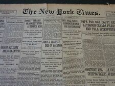 1926 SEPT 2 NEW YORK TIMES - DRYS PLACE CANDIDATE IN RACE FOR GOVERNOR - NT 5598