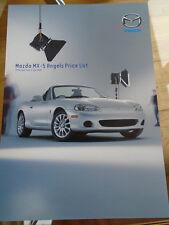 Mazda MX5 Angels Price List brochure Jul 2003