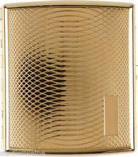 Cigarette Case 20 King Size /Metal /Sheets Goldin/ 2seitig/ Clasp/