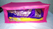 ( 6 PC )Oneside Clear Plastic Clothes Sari Saree Garment Storage,cover Box,Bags