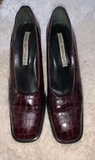 Via Spiga Burgandy Leather Shoes/ Sze 10B GUC 3/12 Heels