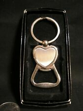 Vintage Men's Silver Tone Combination Key Chain and Bottle Opener