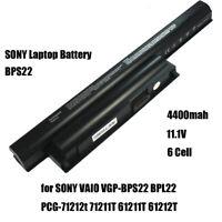 Laptop Battery 4400mah for SONY VAIO VGP-BPS22 BPL22 PCG-71212t 71211T 61211T