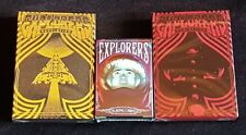 Explorers Playing Cards (3 Deck Set) with Matching Numbered Seals
