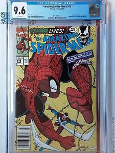 Amazing Spider-Man 345 CGC 9.6 NEWSSTAND Carnage Symbiote Infects Cletus Kasady