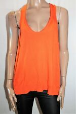 Dazzling Brand Orange Knit Low Sides Tank Top Size 10 BNWT #SV49