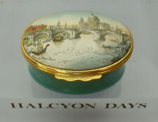 """Halcyon Days 19thC View of St Paul's Cathedral Enamel Box - >2""""(>5cms)"""