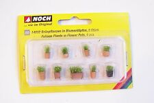 HO Noch 14032 PRE-BUILT Foliage Plants in Flower Pots ( NINE Pots in Pack )