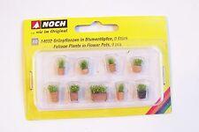 HO Noch 14032 PRE-BUILT Foliage Plants in Flower Pots ( NINE Pots in Pack )