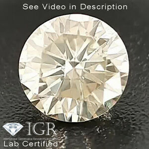 0.24 cts. CERTIFIED Round Cut I1 Light Yellow Color Loose Natural Diamond 24505