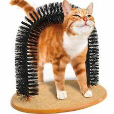 Cat Kitten Massage Grooming Scratching Arch Toy Self Groomer Brush Scratcher
