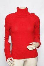 JILL STUART Red Alpaca Wool Ayfer Turtleneck Sweater - Size M / L