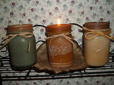 VINTAGE LOOK MASON CANNING JAR PILLAR CANDLE PINT SIZE W/ LID HIGHLY SCENTED