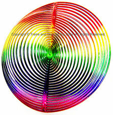 WIND TWISTER DECORATION CIRCLE Shaped Rainbow Colors Garden Decor Outdoors New I